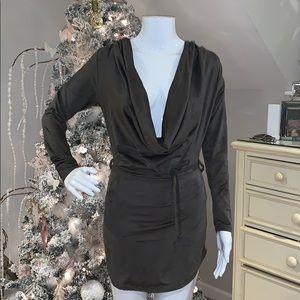 Dark gray scoop neck dress